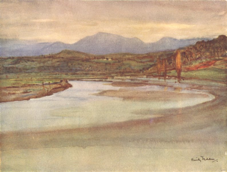 Associate Product PYRÉNÉES-ATLANTIQUES. Basque country. A River in the Basque Country 1921 print