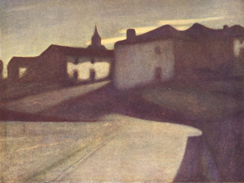 Associate Product PYRÉNÉES-ATLANTIQUES. Valley of Laurhibar. A Basque village-Moonlight 1921