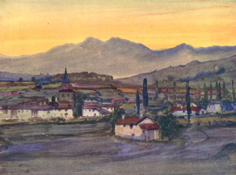 Associate Product PYRÉNÉES-ATLANTIQUES. Basque country. Cambo, Itxassou. An Upland Village 1921