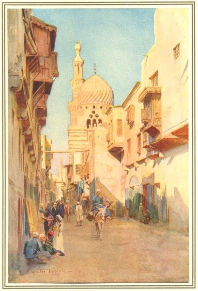 Associate Product EGYPT. Suk Es-Selah, Cairo 1912 old antique vintage print picture
