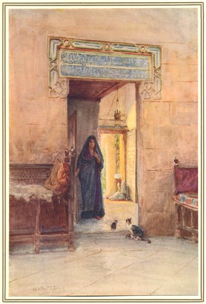 Associate Product EGYPT. Entrance to the Hareem 1912 old antique vintage print picture