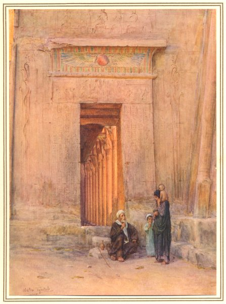 Associate Product EGYPT. Doorway in the temple of Isis 1912 old antique vintage print picture