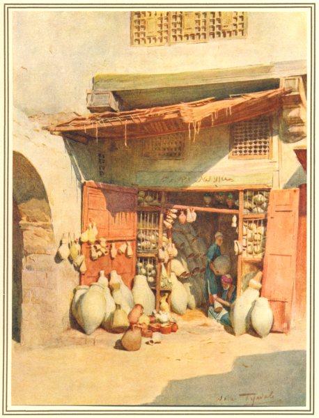 Associate Product EGYPT.Edfu & Quarries of Gebel el-Silsila.Pottery Bazaar in a Nile village 1912