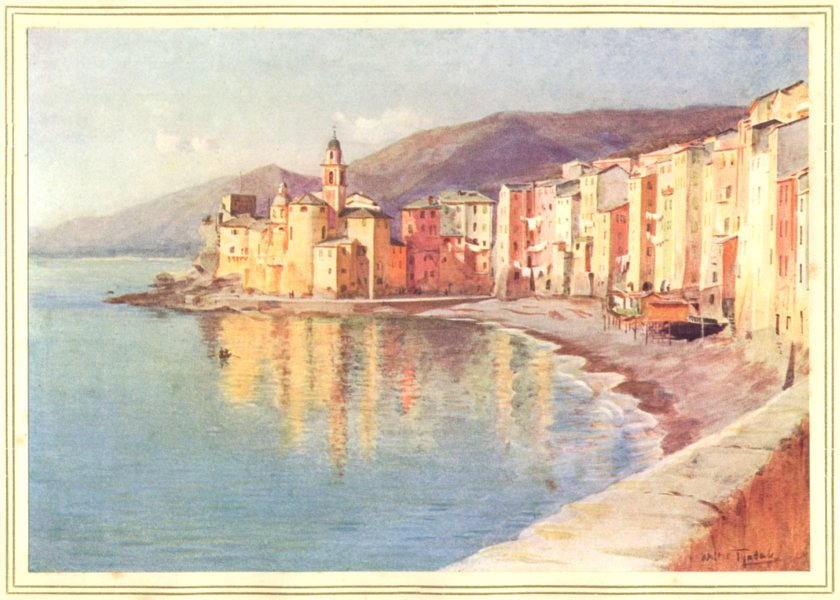 Associate Product ITALY. Camogli 1912 old antique vintage print picture