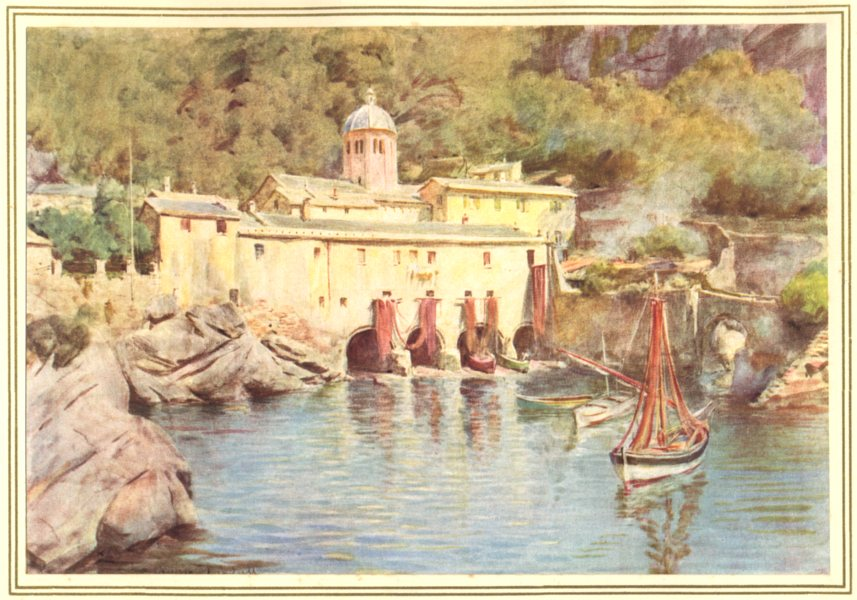 Associate Product ITALY. S Fruttuoso, Portofino 1912 old antique vintage print picture