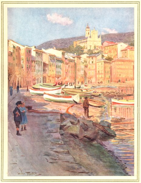 Associate Product ITALY. S Margherita Ligure 1912 old antique vintage print picture