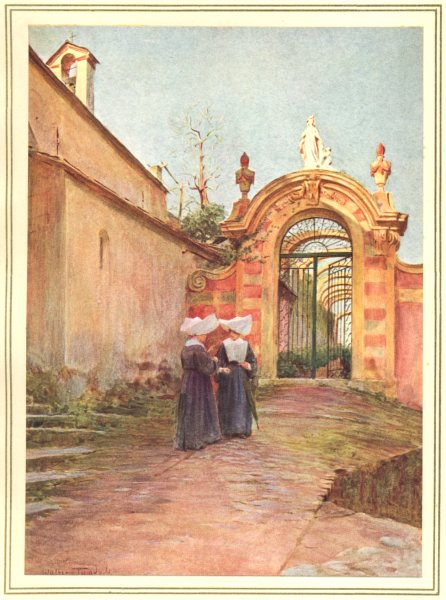Associate Product ITALY. Entrance to the Villa Centurione, S Margherita Ligure 1912 old print