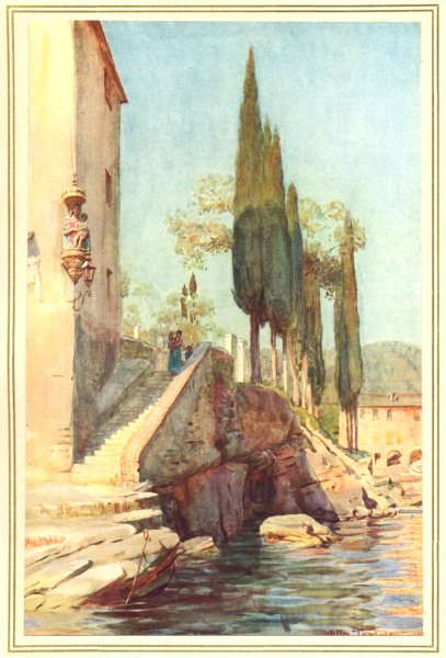 Associate Product ITALY. At S Michele, Rapallo 1912 old antique vintage print picture