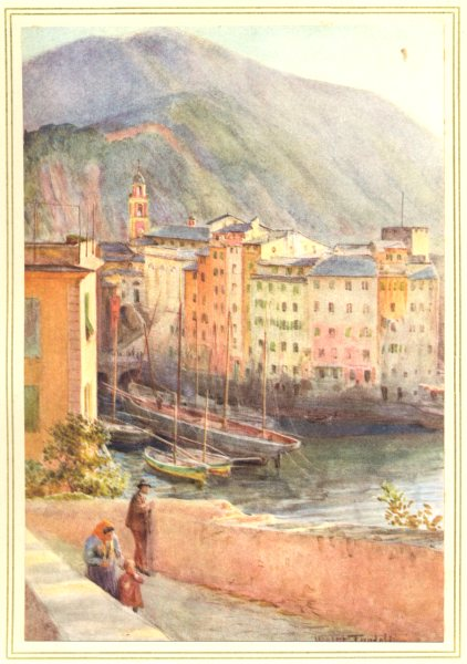 Associate Product ITALY. The Harbour at Camogli 1912 old antique vintage print picture