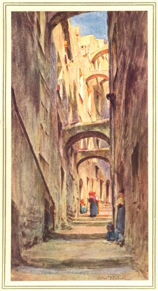 Associate Product ITALY. Vicolo Della Providenza, San Remo 1912 old antique print picture