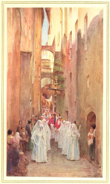 Associate Product ITALY. A Procession in San Remo 1912 old antique vintage print picture
