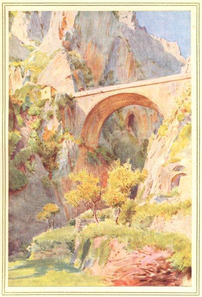Associate Product ITALY. Ventimiglia and La Mortola. Pont St Louis 1912 old antique print
