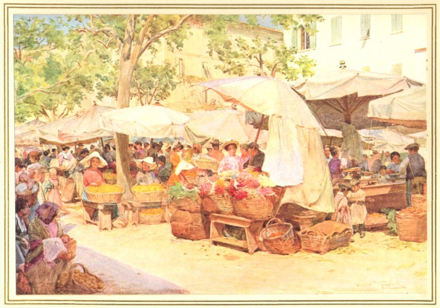 Associate Product FRANCE. The Market at Nice 1912 old antique vintage print picture