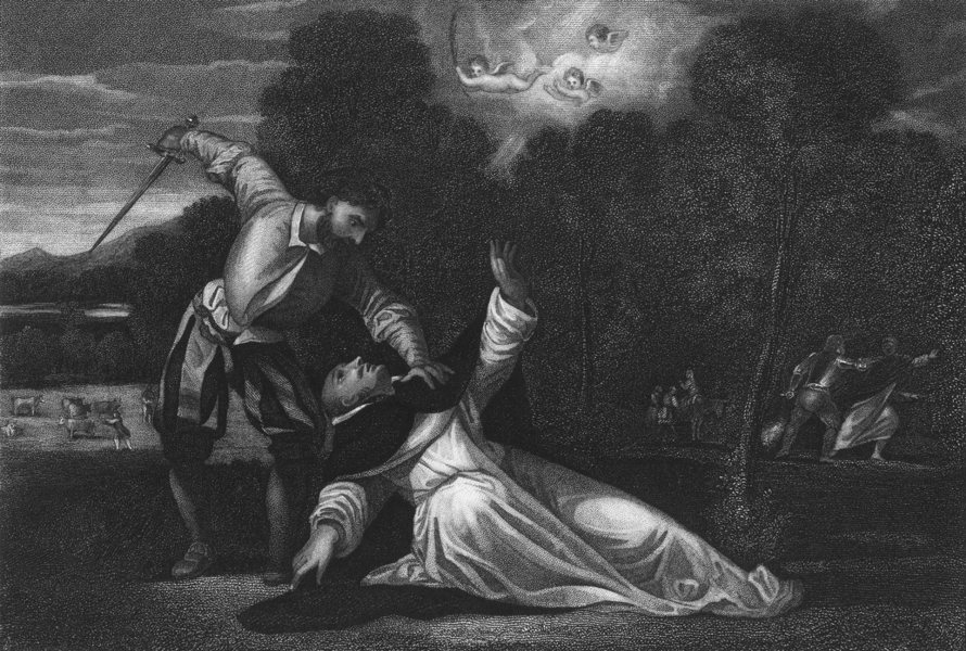 Associate Product THE MARTYRDOM OF ST PETER. Giorgione 1835 old antique vintage print picture