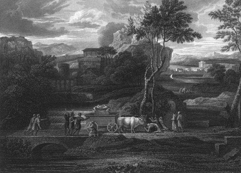 Associate Product THE RETURN OF THE ARK. Sebastian Bourdon 1835 old antique print picture