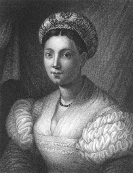 Associate Product PORTRAIT OF A LADY. Bronzino 1835 old antique vintage print picture