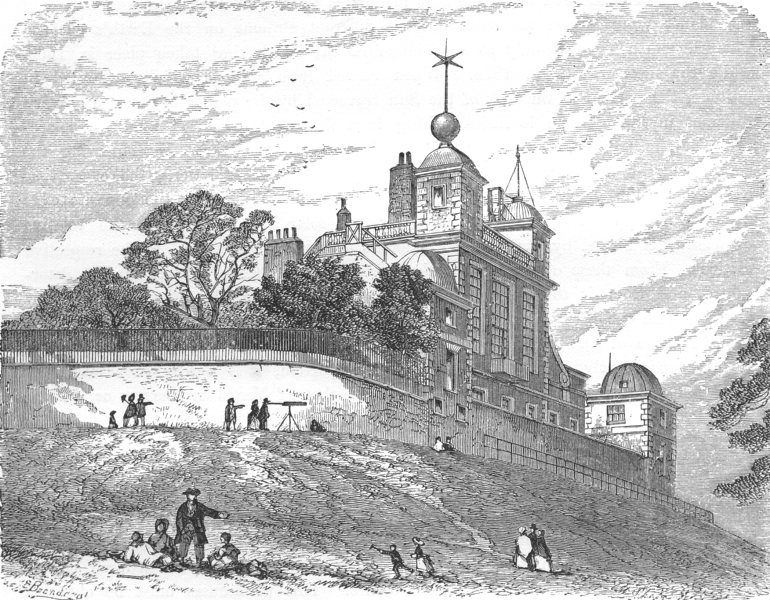 Associate Product LONDON. The Royal Observatory, Greenwich 1869 old antique print picture