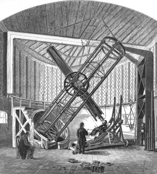 Associate Product LONDON. The Great Equatorial, Royal Observatory, Greenwich 1869 old print