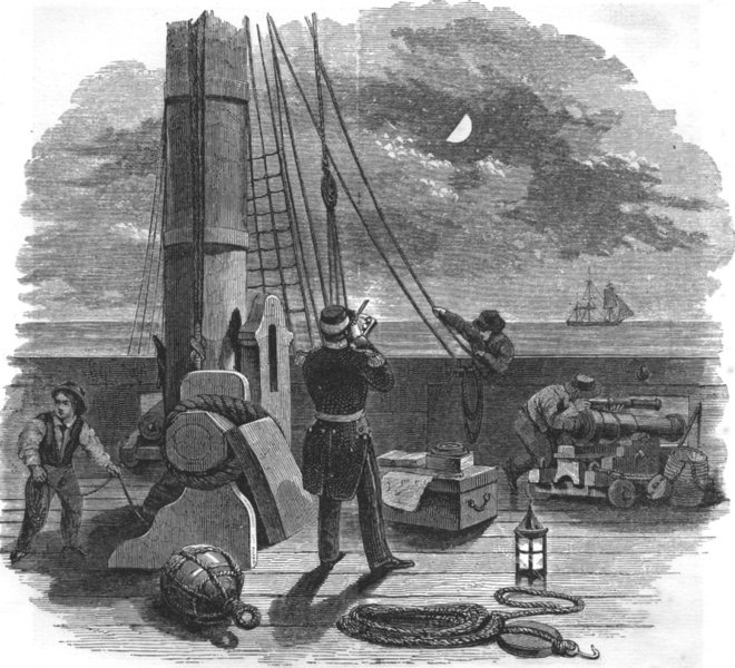 Associate Product ASTRONOMY. Taking A Lunar distance 1869 old antique vintage print picture