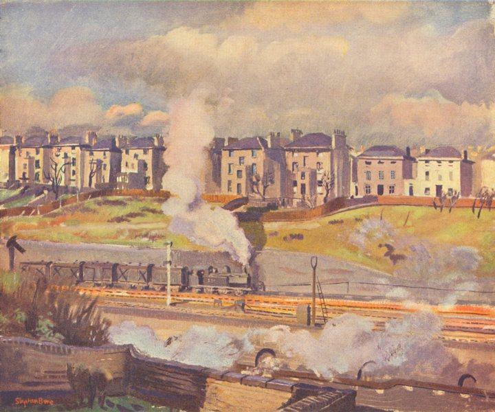 LONDON. Town-Country. Chalk farm, London N W 3 1939 old vintage print picture