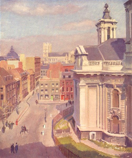 Associate Product LONDON. The Great City. Westminster 1939 old vintage print picture