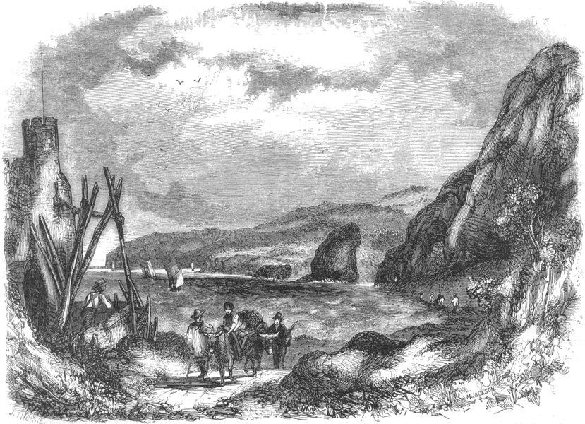 Associate Product DEVON. Chit Rock 1850 old antique vintage print picture