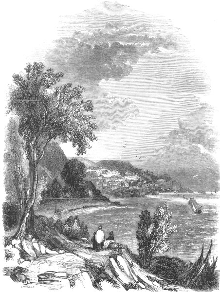 Associate Product DEVON. Torquay 1850 old antique vintage print picture