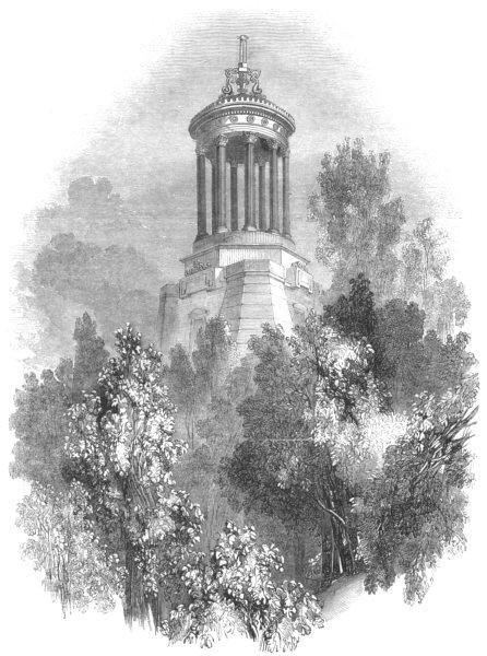 Associate Product SCOTLAND. Ayrshire. Burnss Monument 1850 old antique vintage print picture