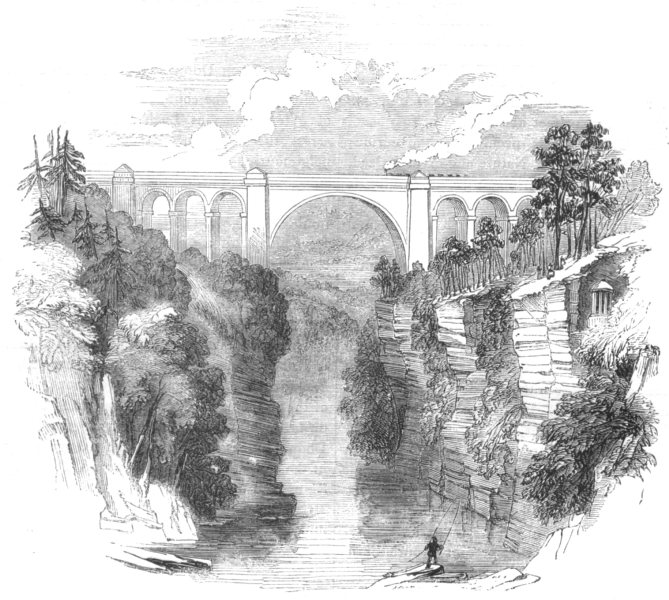 Associate Product SCOTLAND. Ayrshire. Viaduct at Ballochmyle 1850 old antique print picture