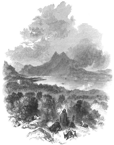 Associate Product IRELAND. The Lakes of Killarney. Lower Lake, looking over Mucruss Demesne 1850
