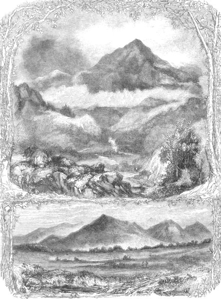 Associate Product WALES. North Wales. Moel Siabod; The Snowdon range, from Cernioge 1850 print