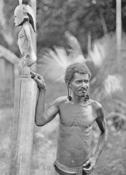 Associate Product MELANESIA. Malformation of Ears; A man Solomon Islands 1900 old antique print
