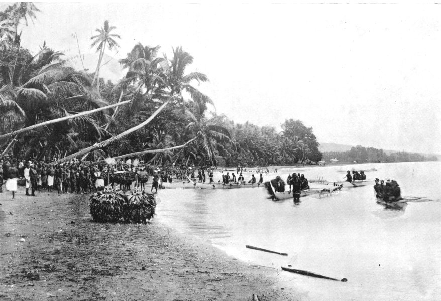 Associate Product MELANESIA. Melanesia. The Landing of the Duk-Duk;  1900 old antique print