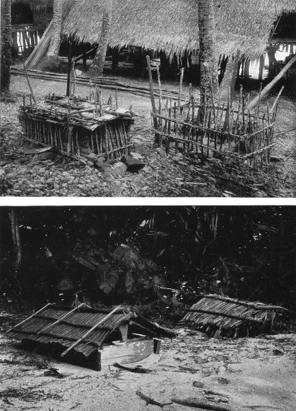 Associate Product INDONESIA. Melanesia. Graves in Dutch new Guinea;  1900 old antique print