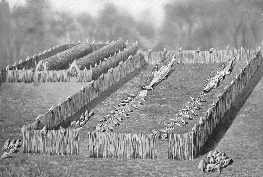 Associate Product MELANESIA. Melanesia. Totem Shrine; Torres Straits Islands 1900 old print