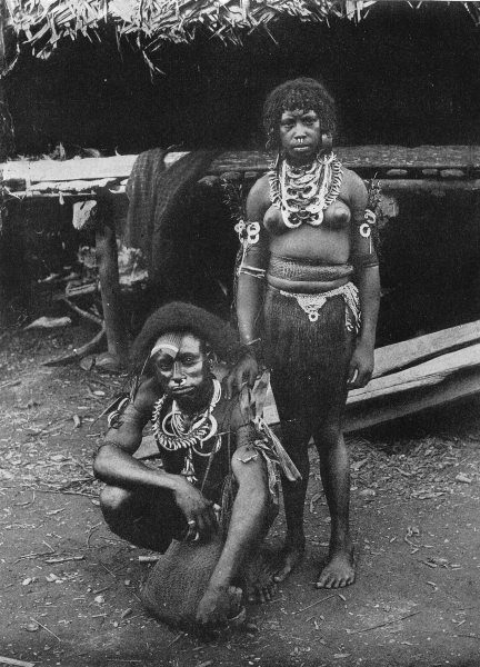 Associate Product MELANESIA. Melanesia. A Young married couple from Siar;  1900 old print