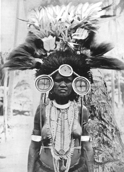Associate Product MELANESIA. Melanesia. A Roro girl decorated for a dance;  1900 old print