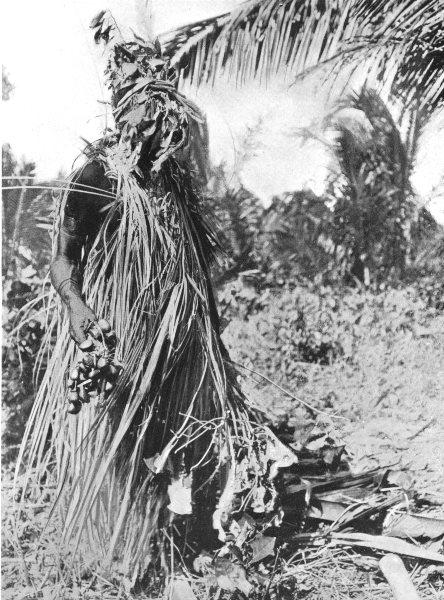 Associate Product PAPAU NEW GUINEA. Melanesia. A Spirit dance;  1900 old antique print picture