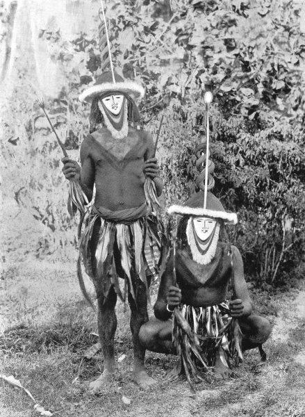 Associate Product MELANESIA. Melanesia. Spirit masks in the Gazelle Peninsula;  1900 old print