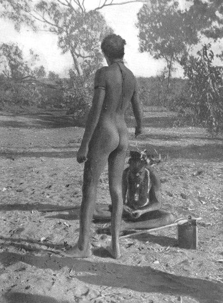Associate Product AUSTRALIA. Australia. Initiation Custom-Warramunga tribe;  1900 old print