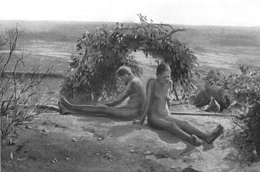 Associate Product AUSTRALIA. Australia. Mourning custom; The two widows of a dead man 1900 print
