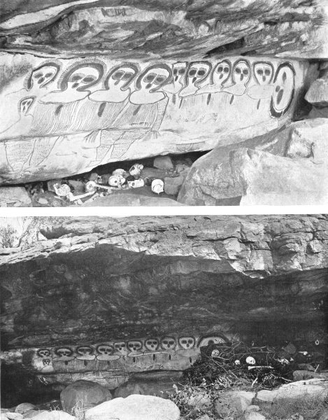 Associate Product AUSTRALIA. Australia. Burial Cave-North-West Australia;  1900 old print