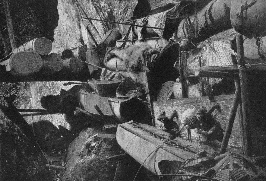 Associate Product MAHAKAM.Borneo.Peng coffins river; laid ledges of limestone cliffs a Canyon 1900