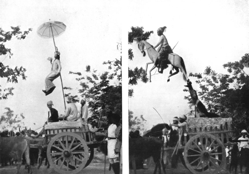 BURMA. Fete Pageants; cart carries Elephant-bird carried Kithani Queen 1900