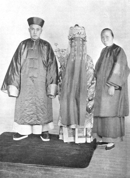 Associate Product CHINA. Chinese wedding costume; bridegroom dress of a mandarin 1900 old print