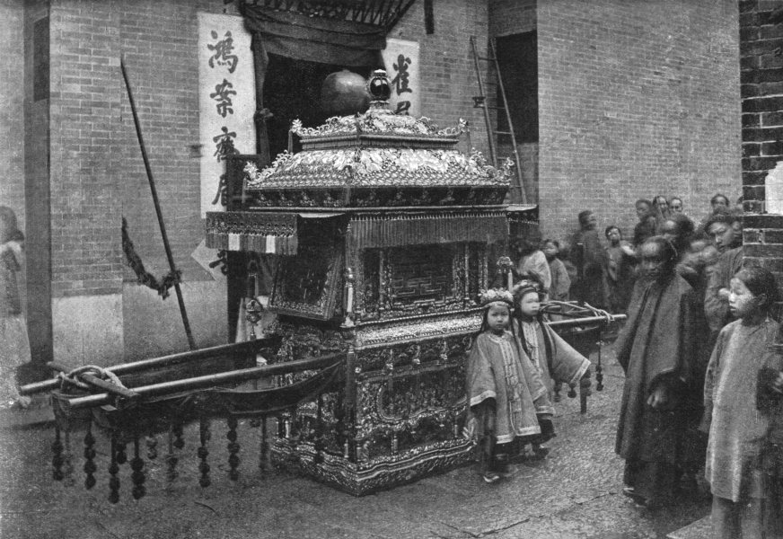 Associate Product CHINA. The Bridal chair; sent by the bridegroom to fetch the bride 1900 print