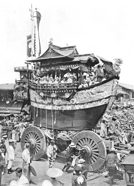 Associate Product JAPAN. Japan. The Gion festival of Kyoto; dashi, or car 1900 old antique print