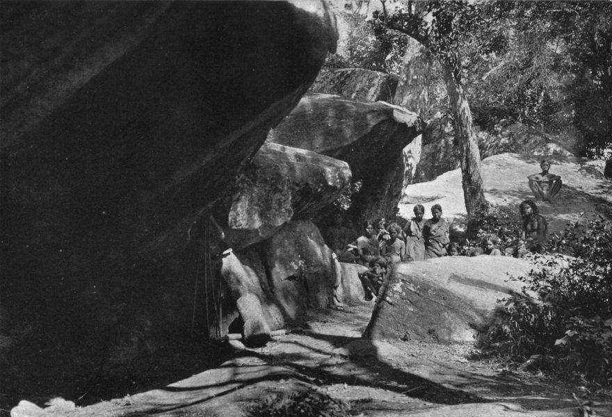 Associate Product SRI LANKA. Sri Lanka. A Rock-shelter of the Hennebedda veddas; caves 1900