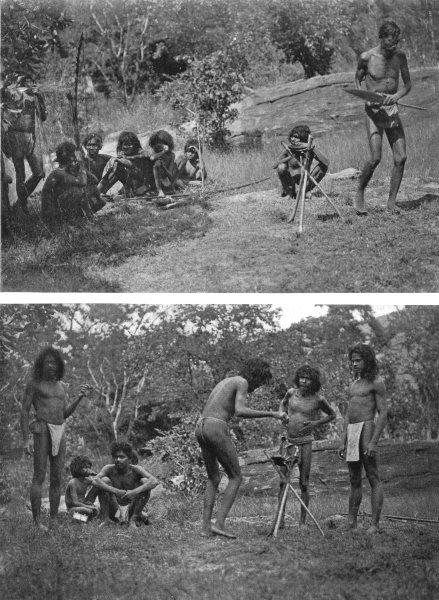 Associate Product SRI LANKA.Sri Lanka.Invocation Kande yaka Bilinde;shaman dancing;Vedda step 1900