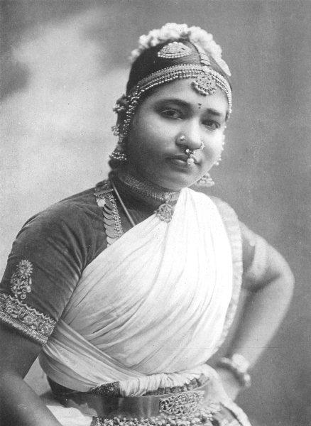 Associate Product SRI LANKA. Sri Lanka. A Nautch girl;  1900 old antique vintage print picture